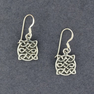 Sterling Silver Antique Celtic Shield Earrings
