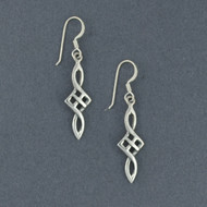 Sterling Silver Long Pointed Celtic Earrings