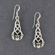 Sterling Silver Claddagh Knot Earrings