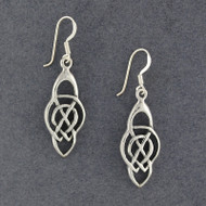 Sterling Silver Large Celtic Knot Earrings