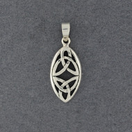 Sterling Silver Double Trinity Knot Pendant