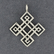 Sterling Silver Diamon Celtic Knot Pendant
