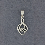 Sterling Silver Celtic Knot Drop Pendant