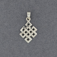 Sterling Silver Endless Knot Pendant