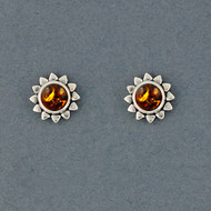 Sunshine Amber Stud Earrings