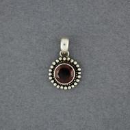 Garnet Round  Pendant