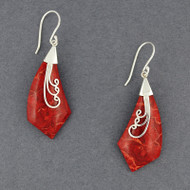 Coral Pointed Drop Earrings