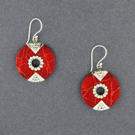 Coral Center Cutout Earrings