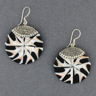 Mosaic Pointed Shell Earrings