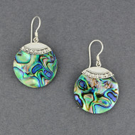 Abalone Dotted Circle Earrings