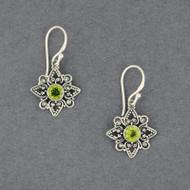 Peridot Flower Earrings