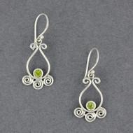 Peridot Spiral Earrings