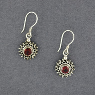 Garnet Sun Earrings