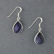 Wampum Large Teardrop Earrings