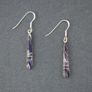 Wampum Long Mosaic Earrings