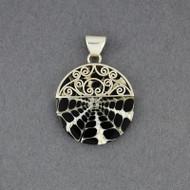 Mosaic Black & White Swirl Pendant