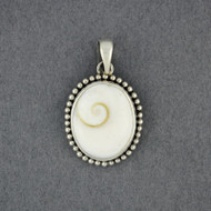 Shiva's Eye Dotted Oval Pendant
