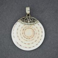 Cone Shell Dots & Spirals Pendant