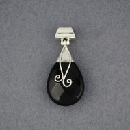 Onyx Faceted Teardrop Pendant