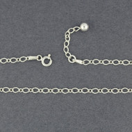 Sterling Silver Rombo Figaro Anklet