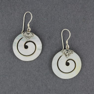 Mother of Pear Thick Spiral Earrings