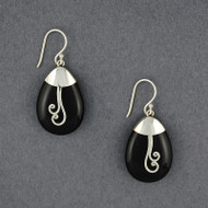 Onyx Spiral Earrings