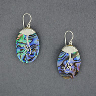 Abalone Spiral Earrings