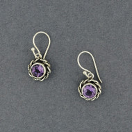 Amethyst Rope Border Earrings