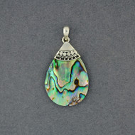Abalone Dotted Teardrop Pendant