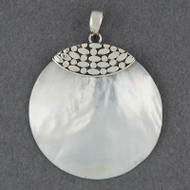 Mother of Pearl Dots and Ovals Pendant