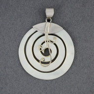 Mother of Pearl Spiral and Swirl Pendant