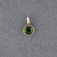 Peridot Small Circle Pendant