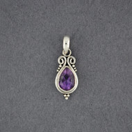 Amethyst Simple Teardrop Pendant