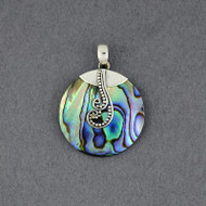 Abalone Dotted Spirals Pendant