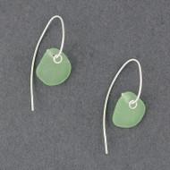 Drop Hook Sea Glass Earrings