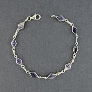Wampum Triangle Link Bracelet