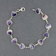 Wampum Heart Link Bracelet
