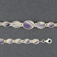Wampum Graduated Oval Bracelet