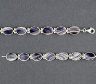 Wampum Oval Hinge Bracelet