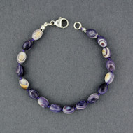 Wampum Hand Knotted Rice Bead Bracelet