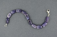 Wampum Hand Knotted Rectangle Bead Bracelet
