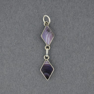 Wampum Double Diamond Pendant