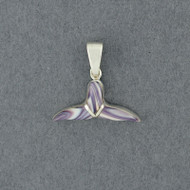 Wampum Small Whale Tail Pendant