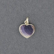 Wampum Medium Heart Pendant
