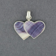 Wampum Large Two Hearts Pendant