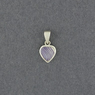 Wampum Small Heart Pendant