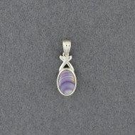 Wampum X and Oval Pendant