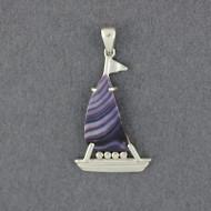 Wampum Boat Pendant