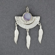Wampum Dream Catcher Pendant