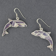 Wampum Dolphin Inlay Earring